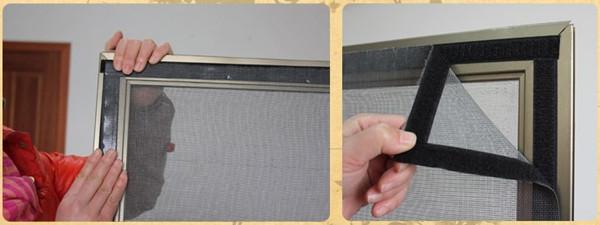 纳海纺织:魔术贴纱窗的安装方法
