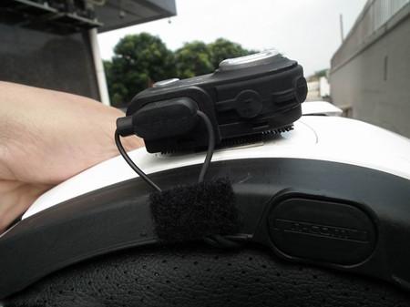 纳海专利蘑菇头魔术贴,安装维迈通头盔蓝牙耳机